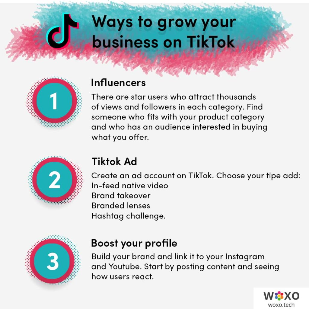 3 ways to grow your business on tiktok: influencers, TikTok Ads and by boosting your profile