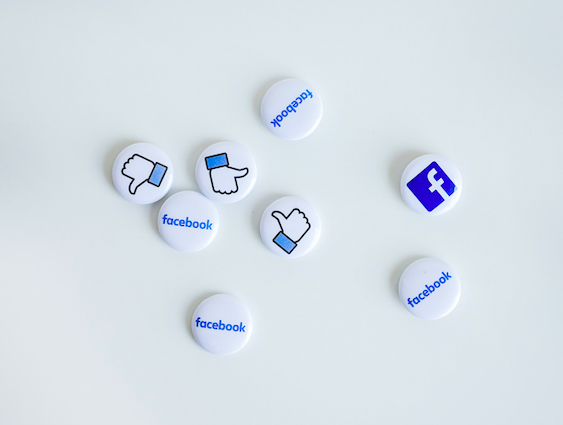 Pins with social media icons
