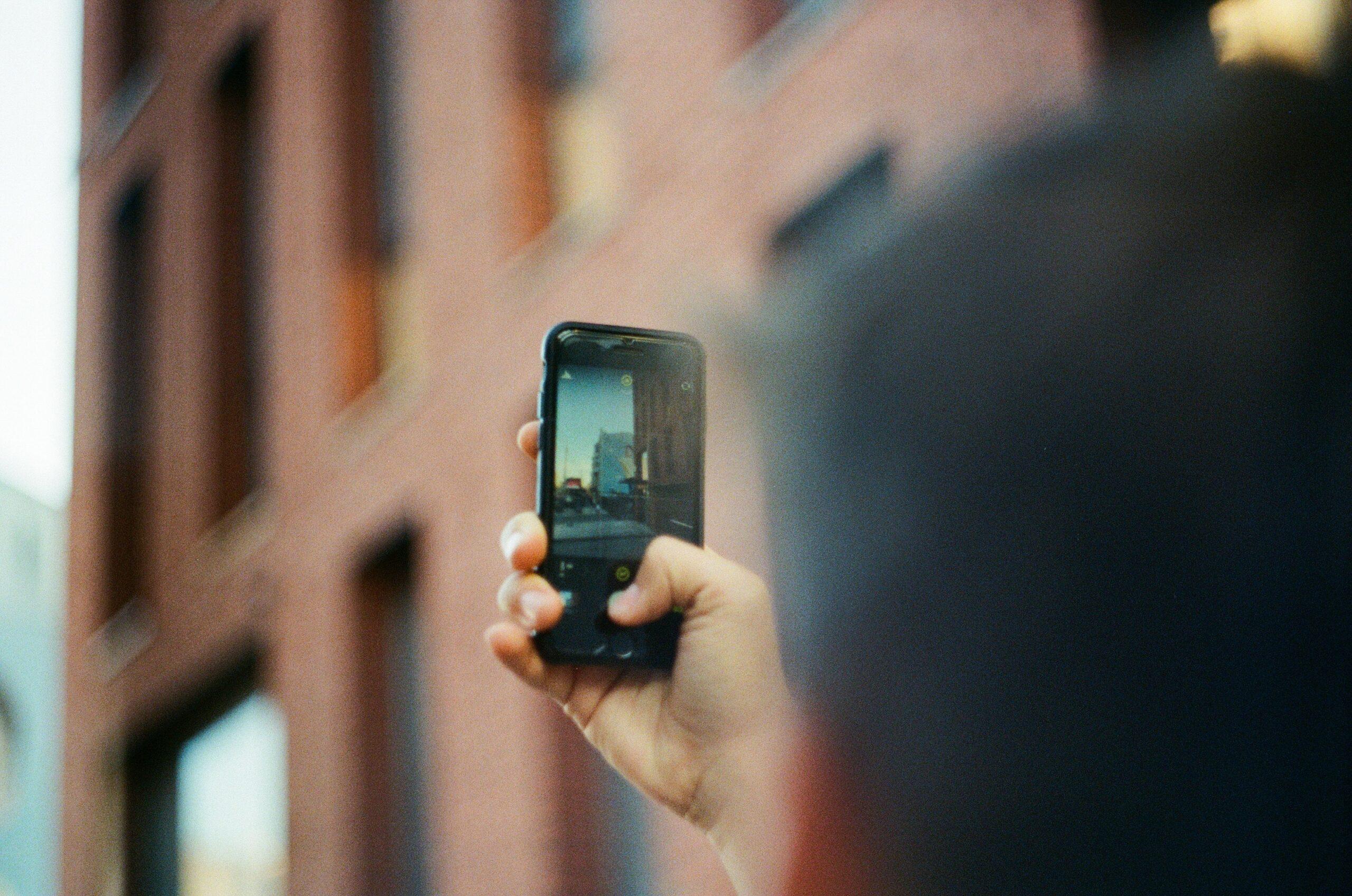 phone filming instagram reels