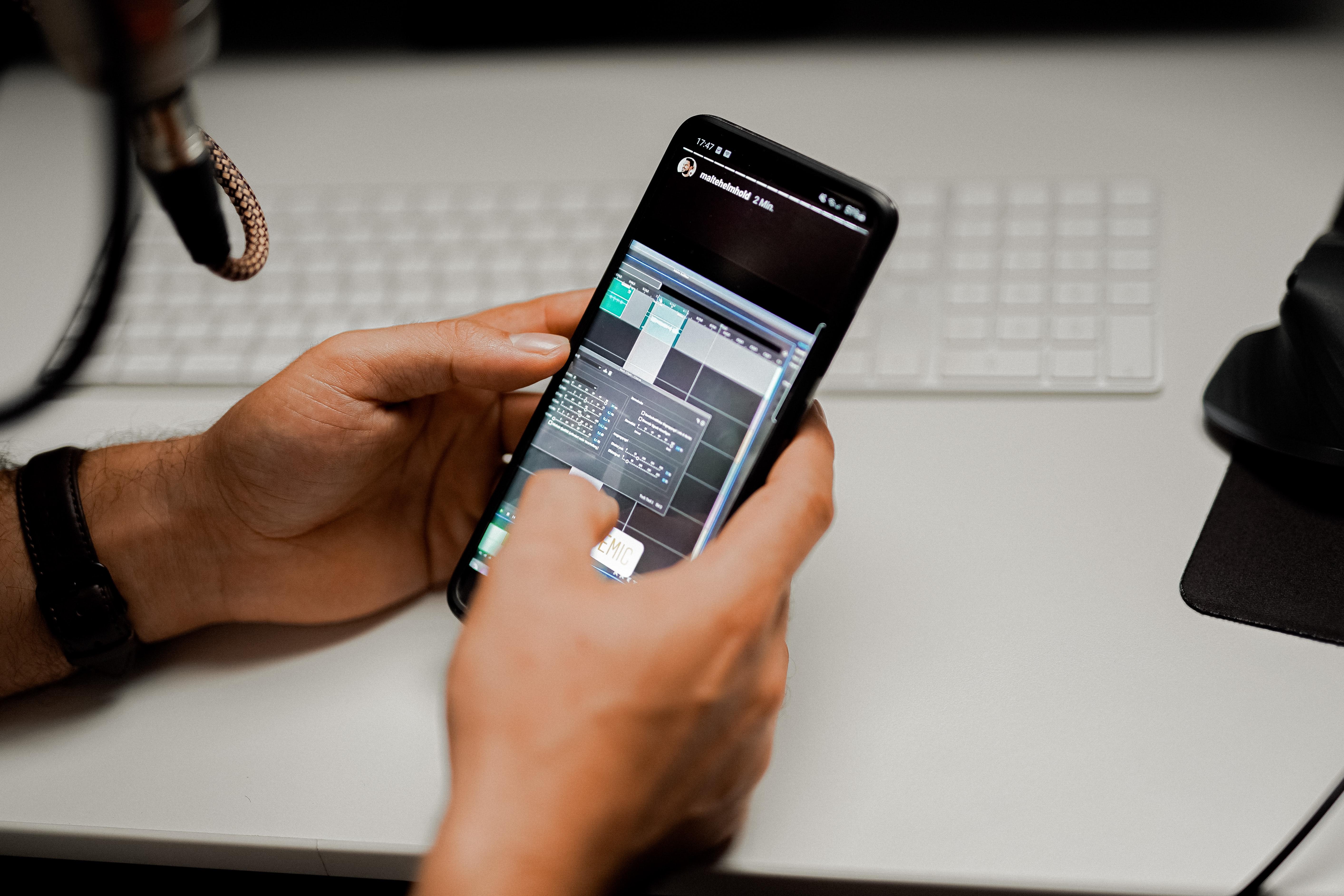 editing video or instagram reels on phone